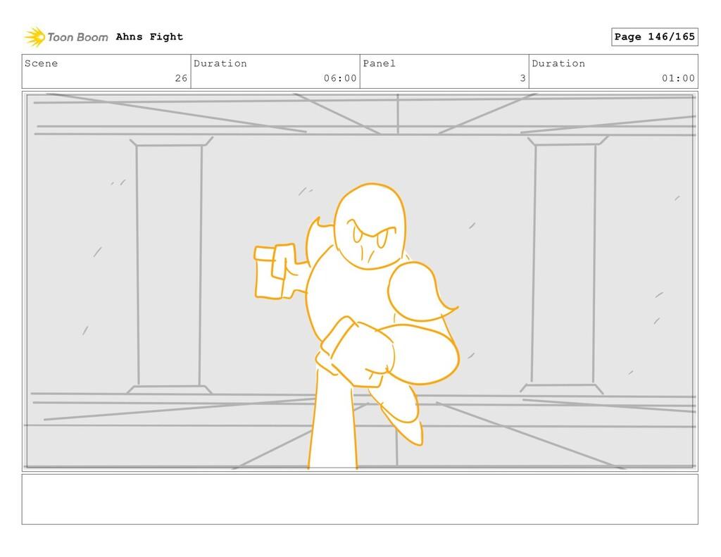 Scene 26 Duration 06:00 Panel 3 Duration 01:00 ...