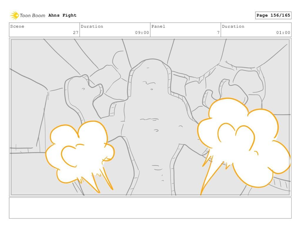Scene 27 Duration 09:00 Panel 7 Duration 01:00 ...
