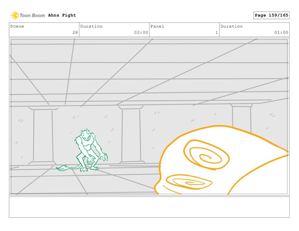 Scene 28 Duration 02:00 Panel 1 Duration 01:00 ...