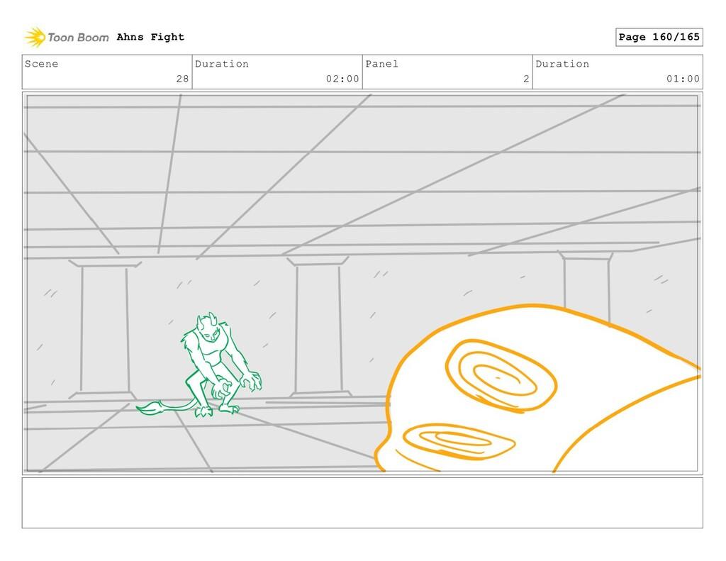 Scene 28 Duration 02:00 Panel 2 Duration 01:00 ...