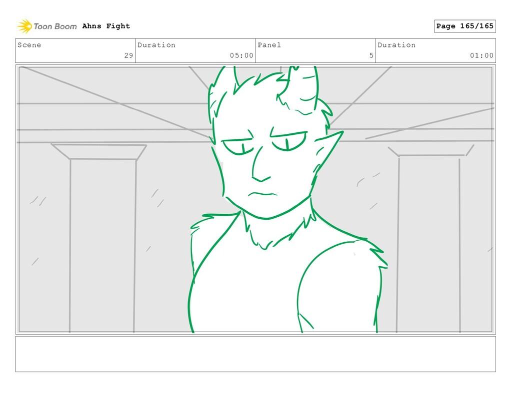 Scene 29 Duration 05:00 Panel 5 Duration 01:00 ...