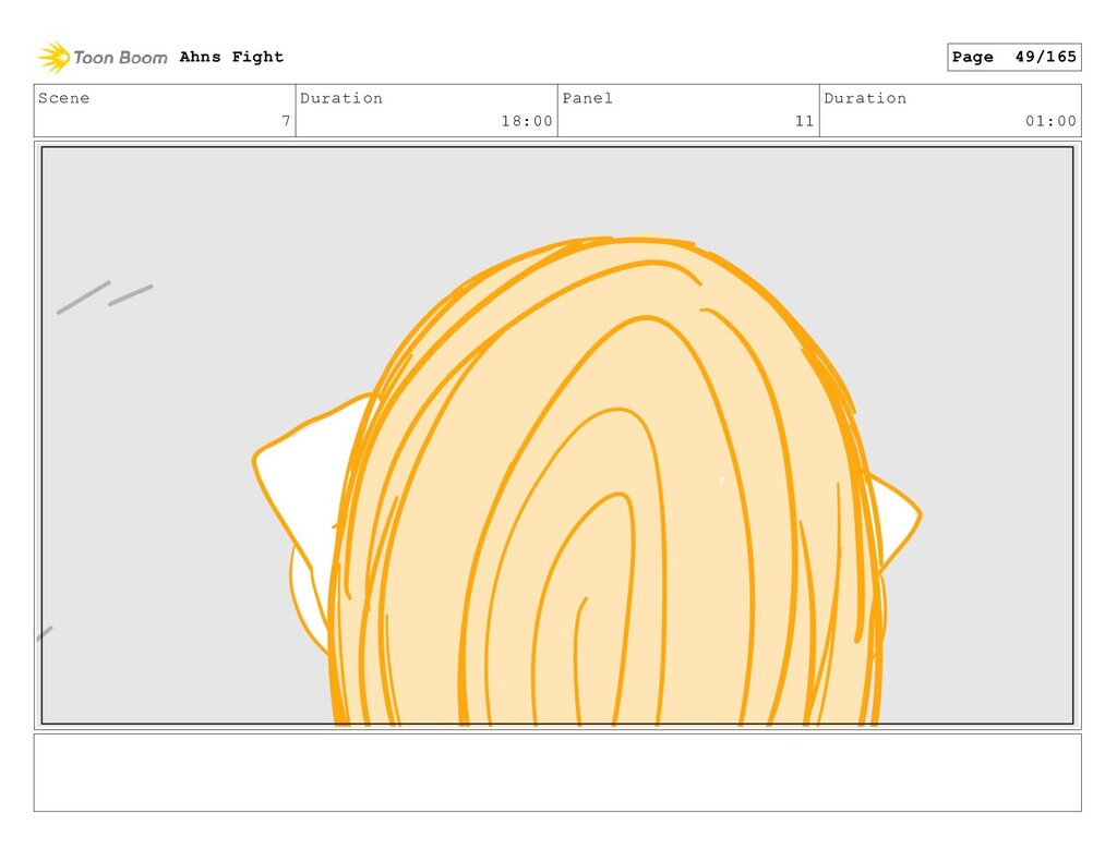 Scene 7 Duration 18:00 Panel 11 Duration 01:00 ...