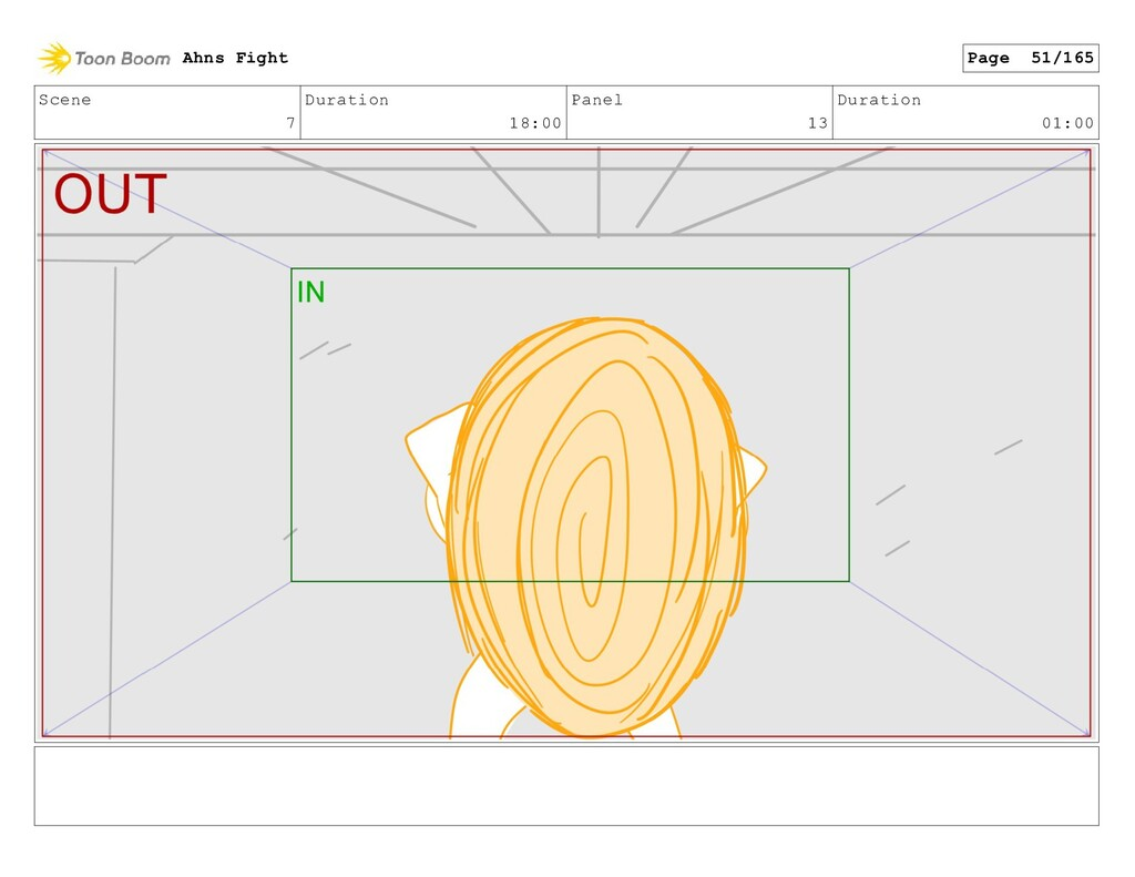 Scene 7 Duration 18:00 Panel 13 Duration 01:00 ...