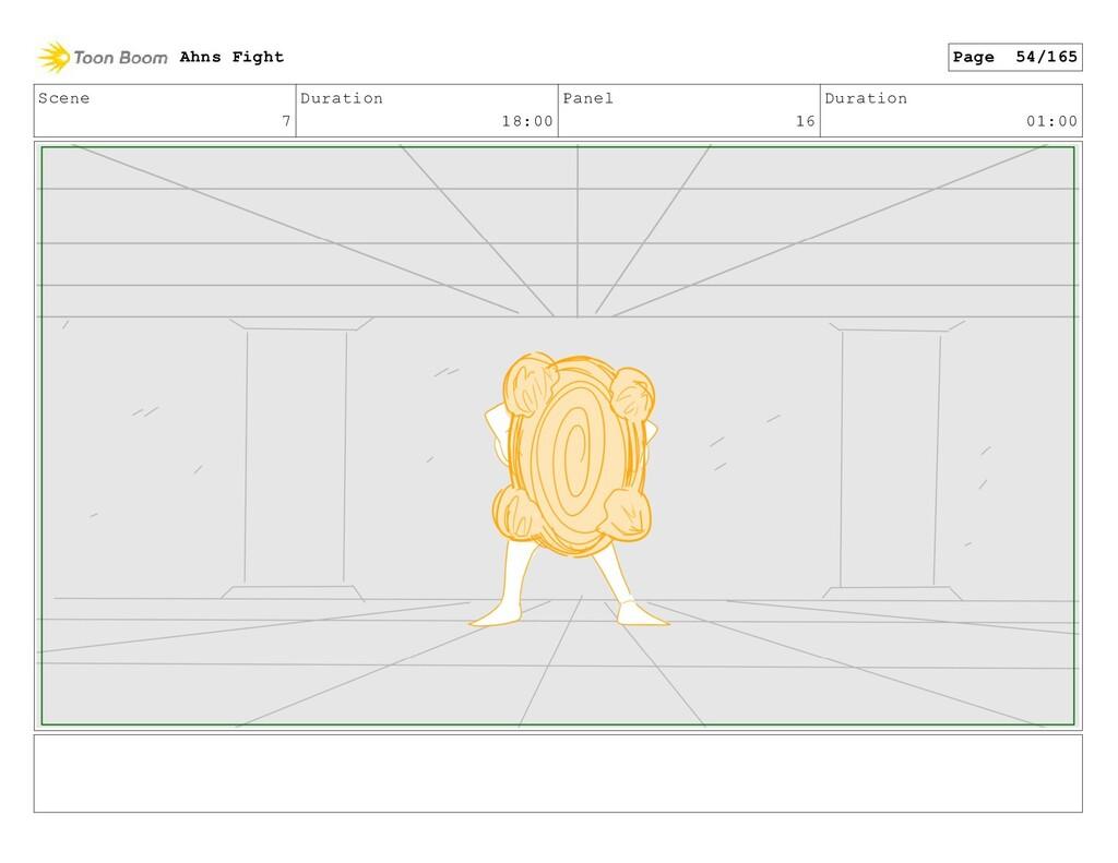 Scene 7 Duration 18:00 Panel 16 Duration 01:00 ...