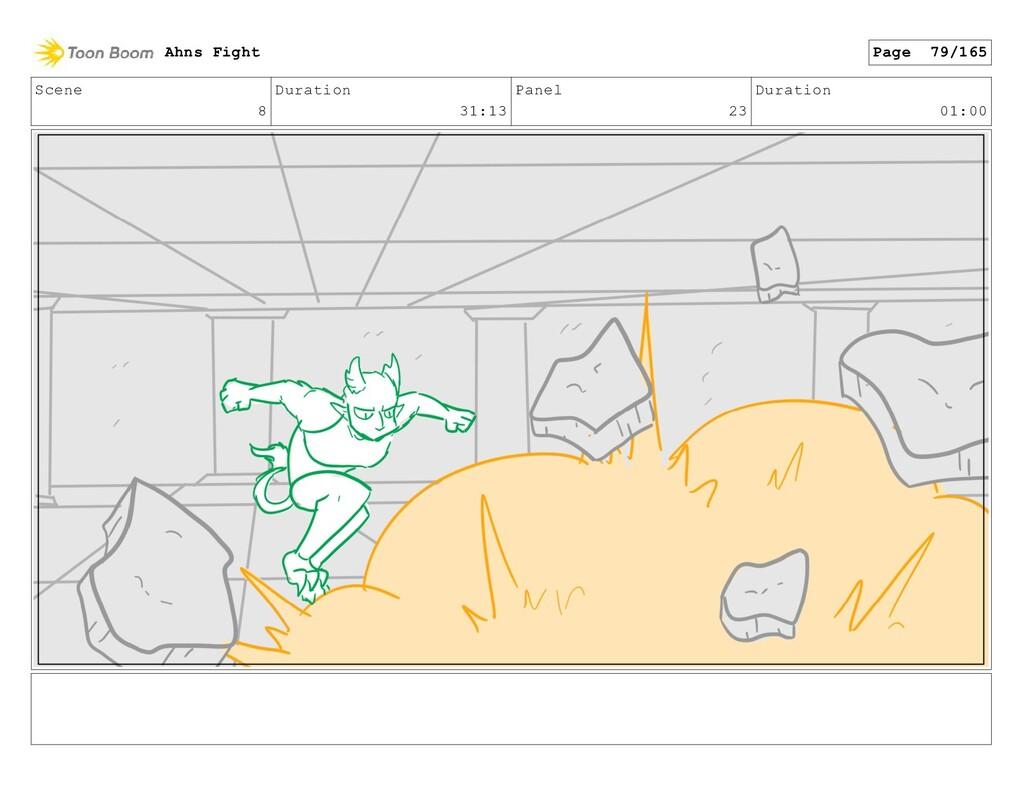 Scene 8 Duration 31:13 Panel 23 Duration 01:00 ...