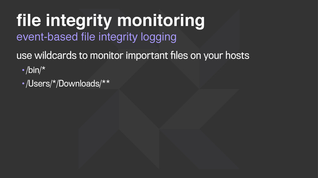 event-based file integrity logging file integrity...