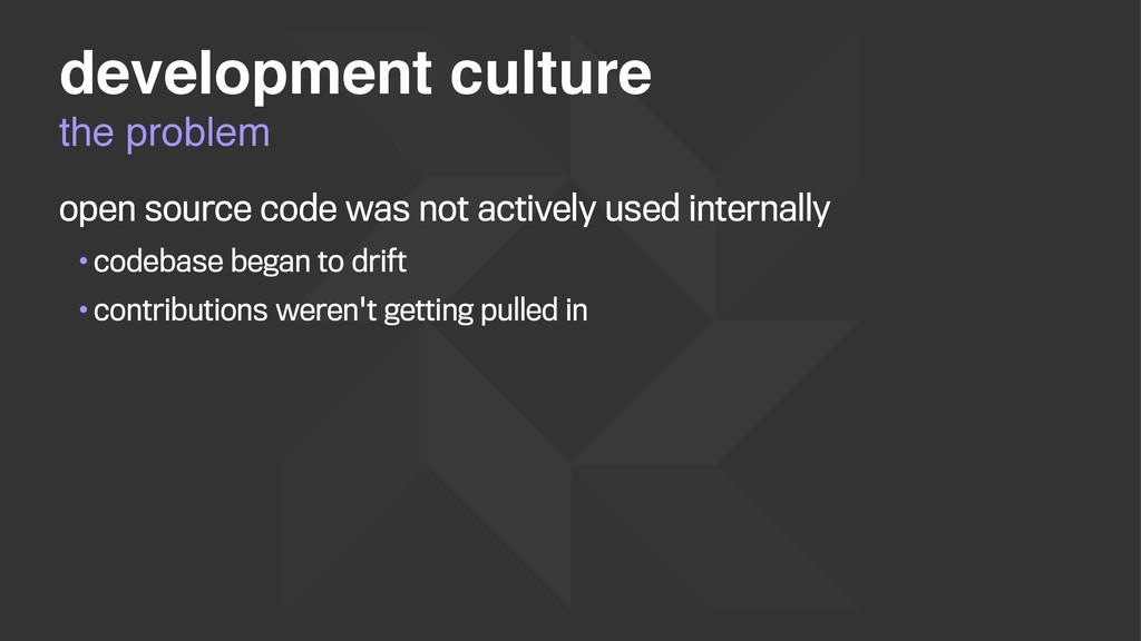 the problem development culture open source cod...