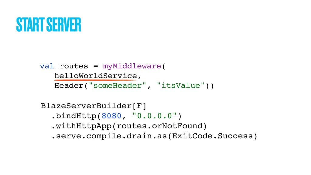 START SERVER BlazeServerBuilder[F] .bindHttp(80...