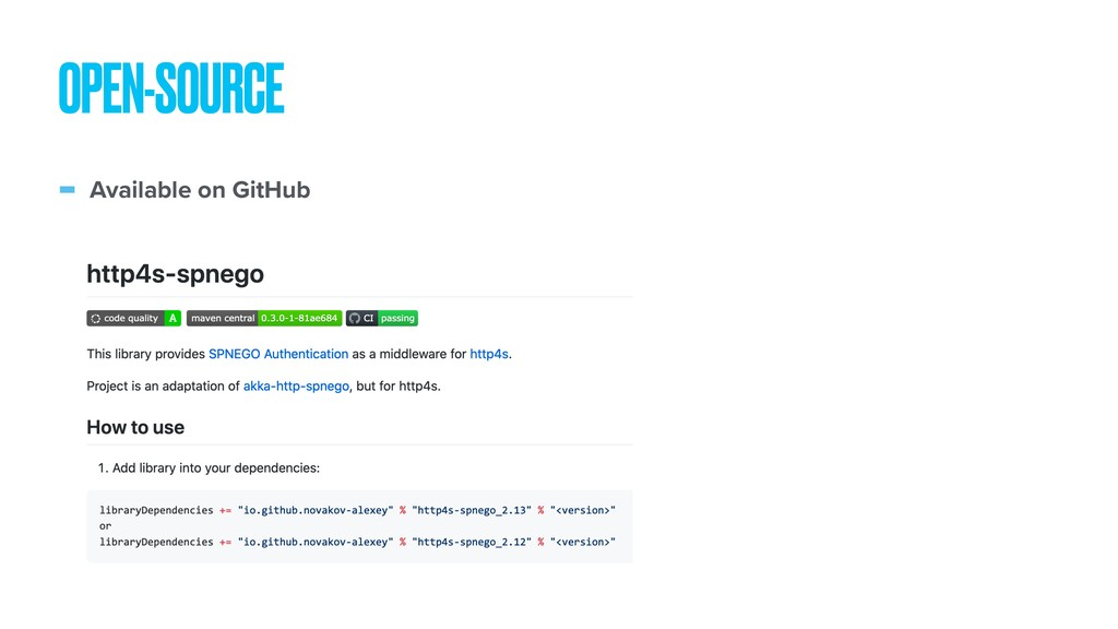 - Available on GitHub OPEN-SOURCE