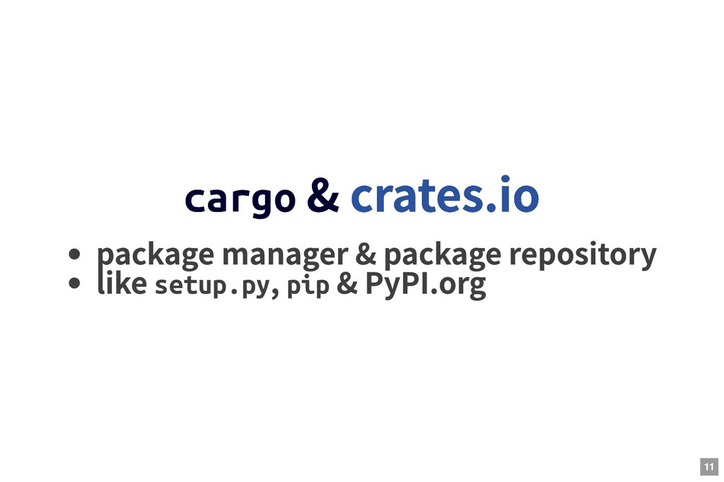 cargo cargo & & package manager & package repos...
