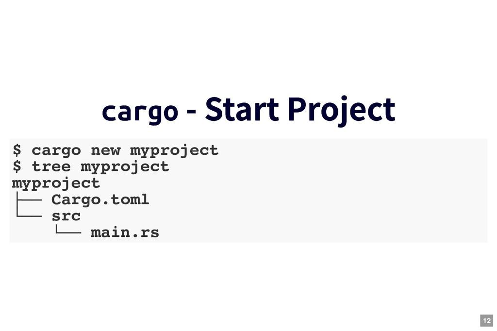 cargo cargo - Start Project - Start Project $ c...