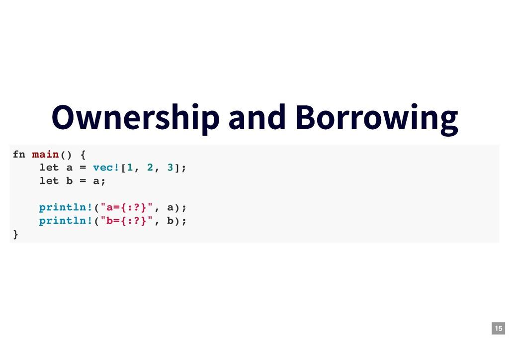 Ownership and Borrowing Ownership and Borrowing...