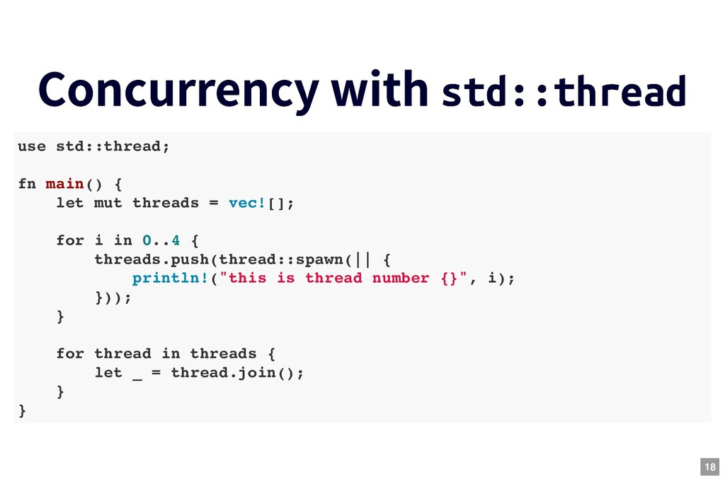 Concurrency with Concurrency with std::thread s...