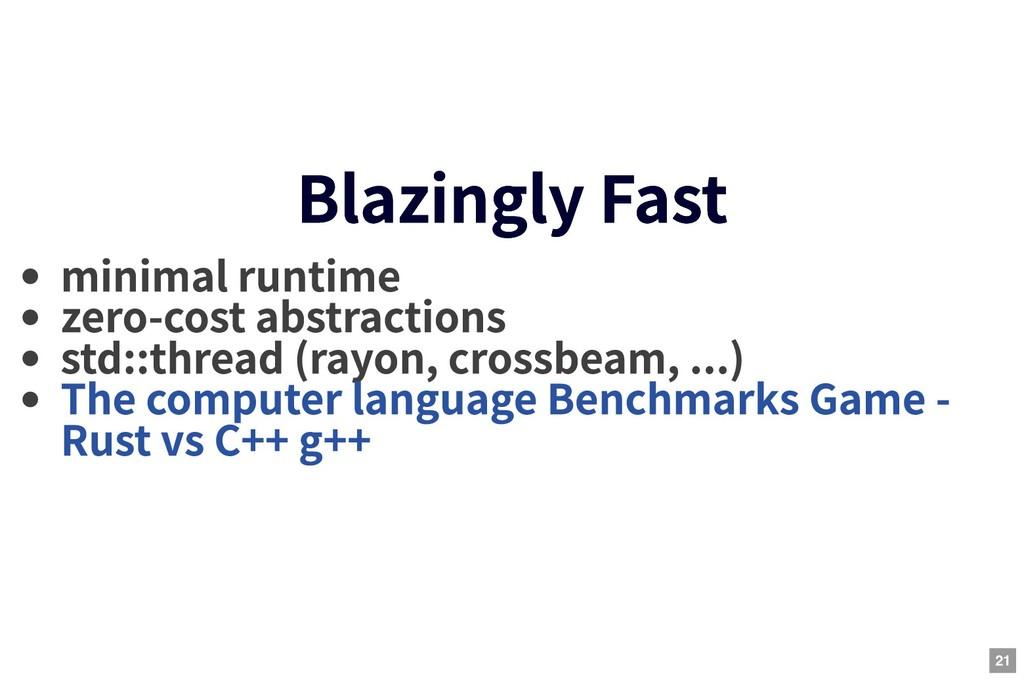 Blazingly Fast Blazingly Fast minimal runtime z...