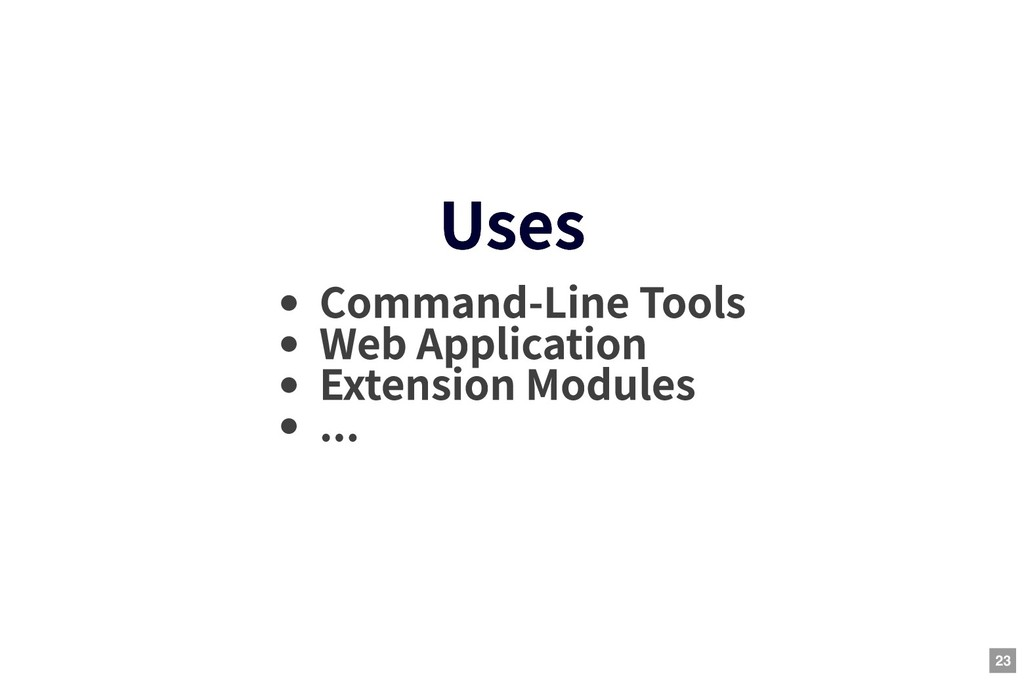 Uses Uses Command-Line Tools Web Application Ex...