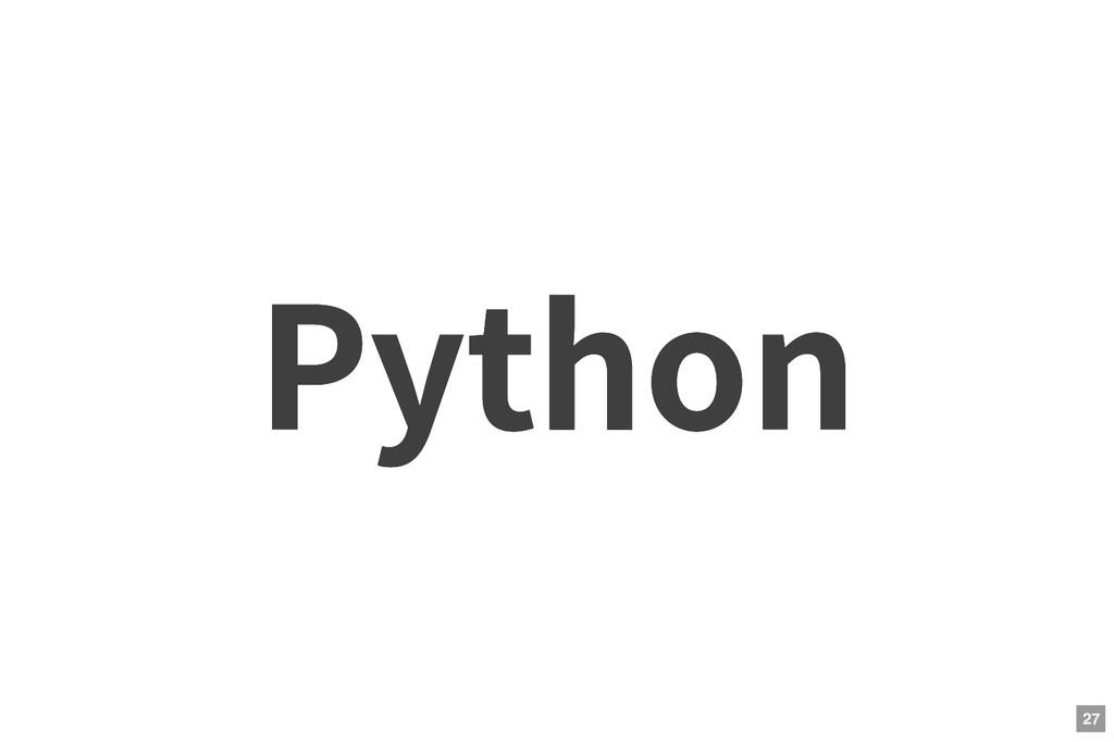 Python Python 27