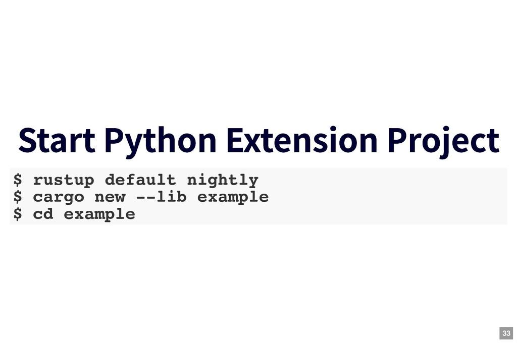 Start Python Extension Project Start Python Ext...