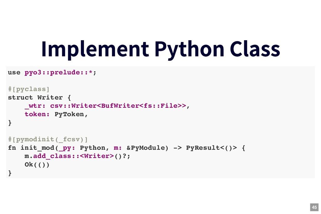 Implement Python Class Implement Python Class u...