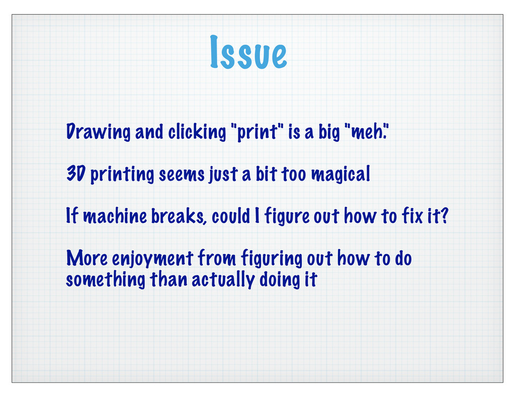 """Issue Drawing and clicking """"print"""" is a big """"me..."""