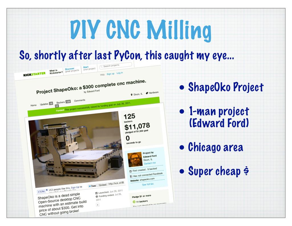 DIY CNC Milling • ShapeOko Project • 1-man proj...