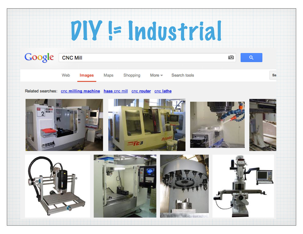 DIY != Industrial