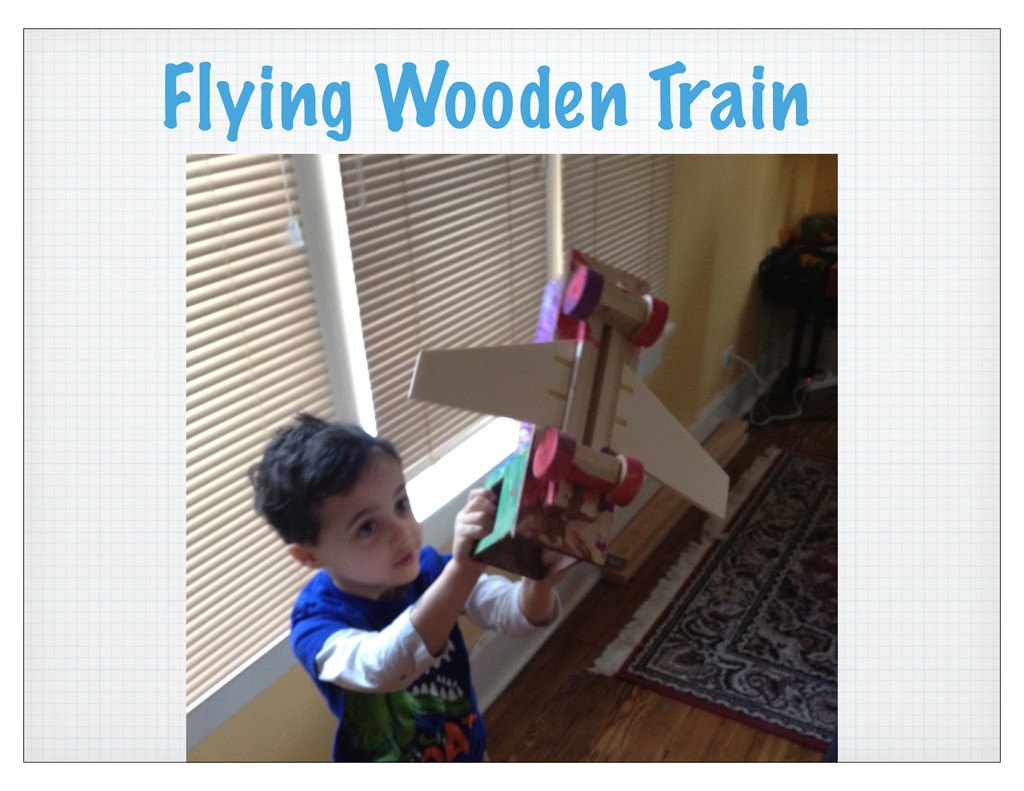 Flying Wooden Train