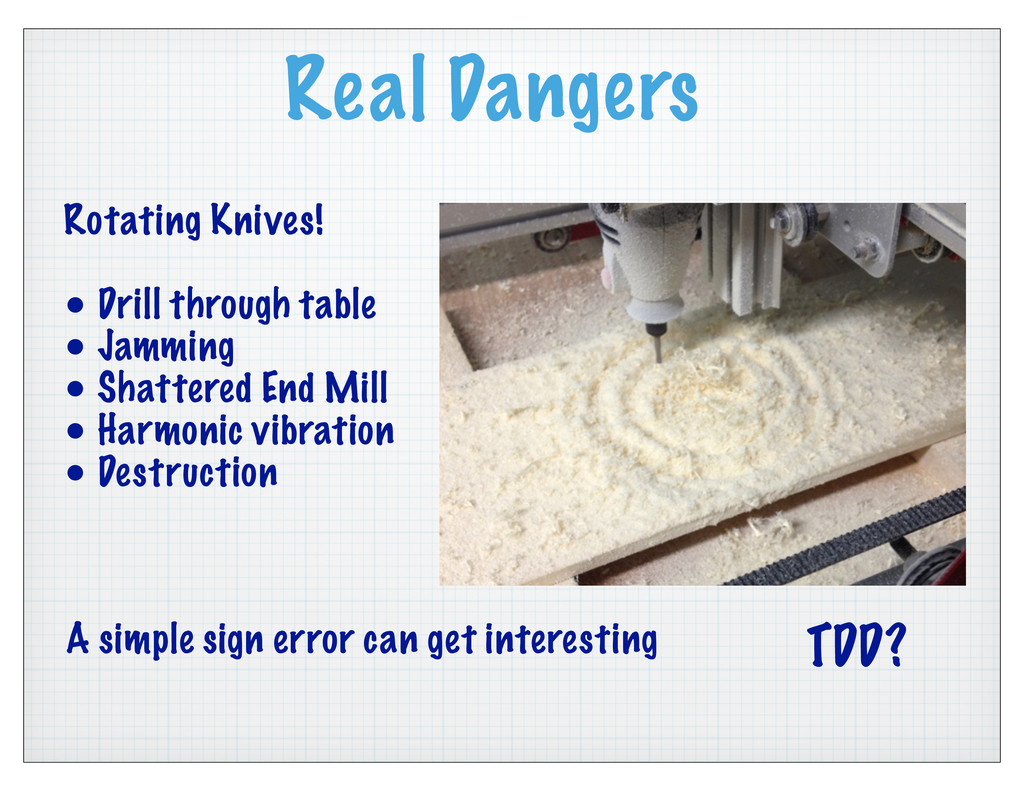 Real Dangers Rotating Knives! • Drill through t...