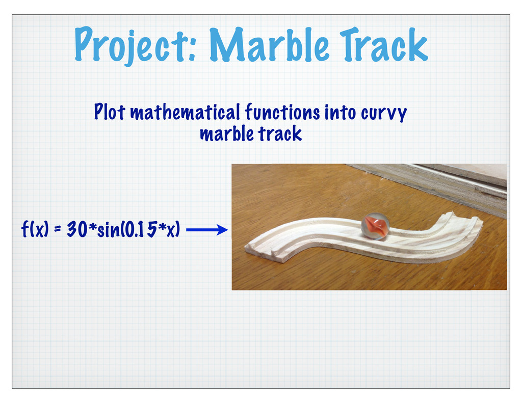 Project: Marble Track Plot mathematical functio...