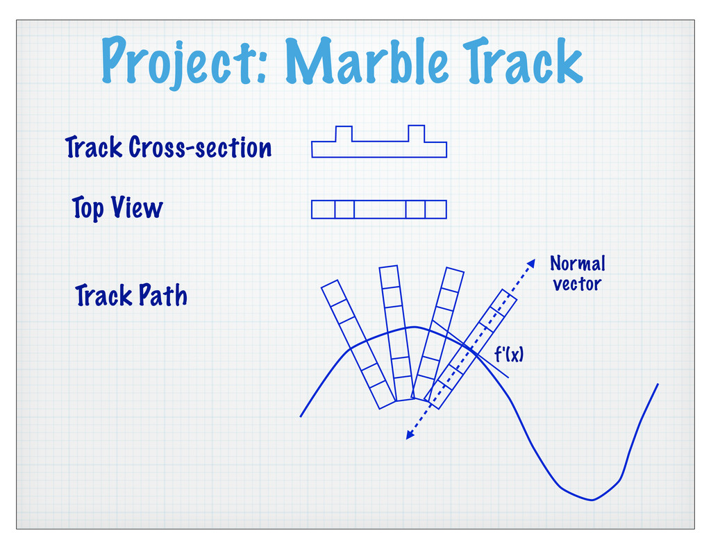 Project: Marble Track Track Cross-section Top V...