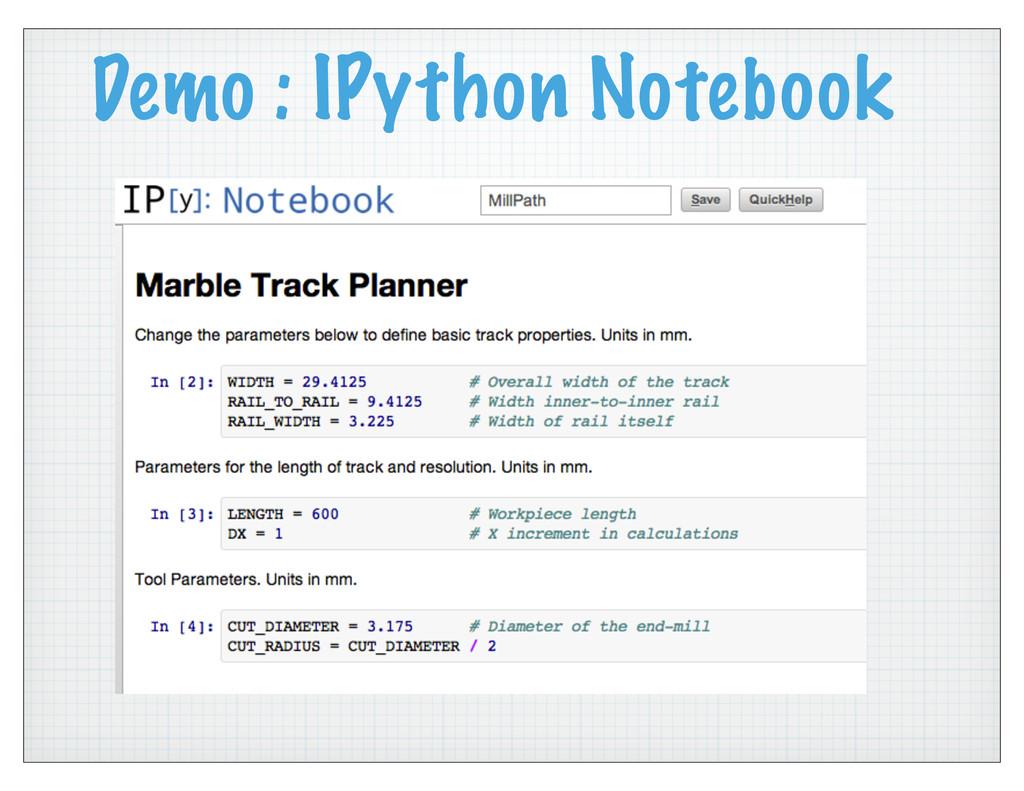 Demo : IPython Notebook