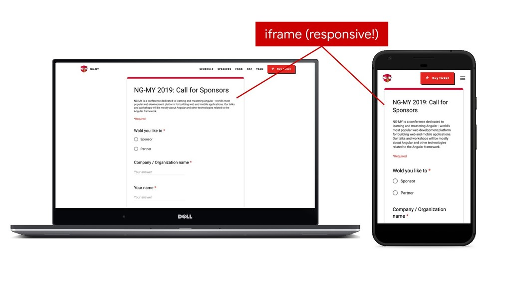 iframe (responsive!)