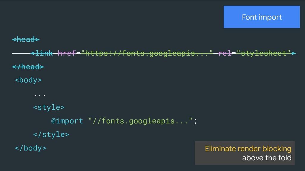 "Font import <head> <link href=""https://fonts.go..."