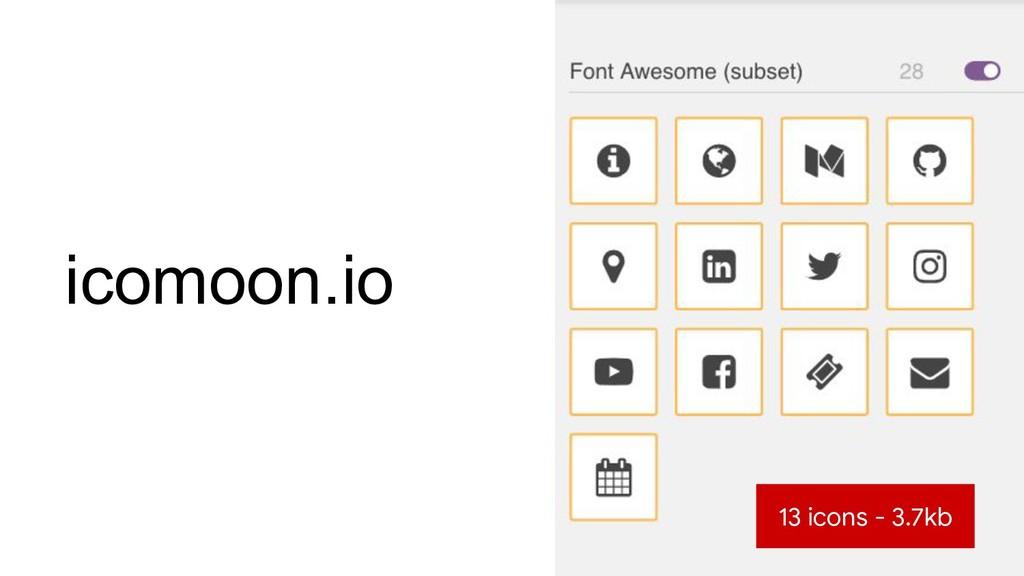 icomoon.io 13 icons - 3.7kb