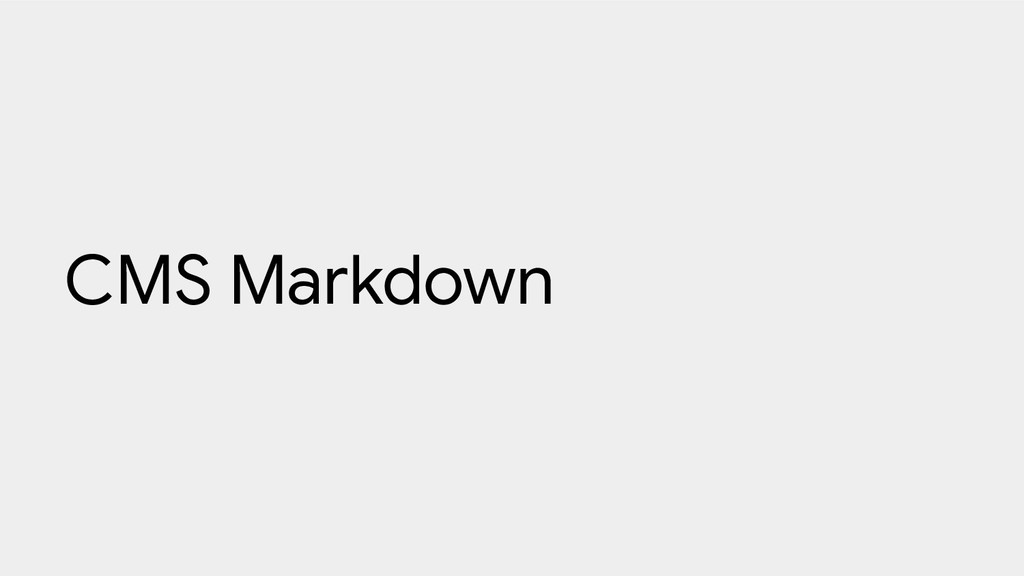 CMS Markdown