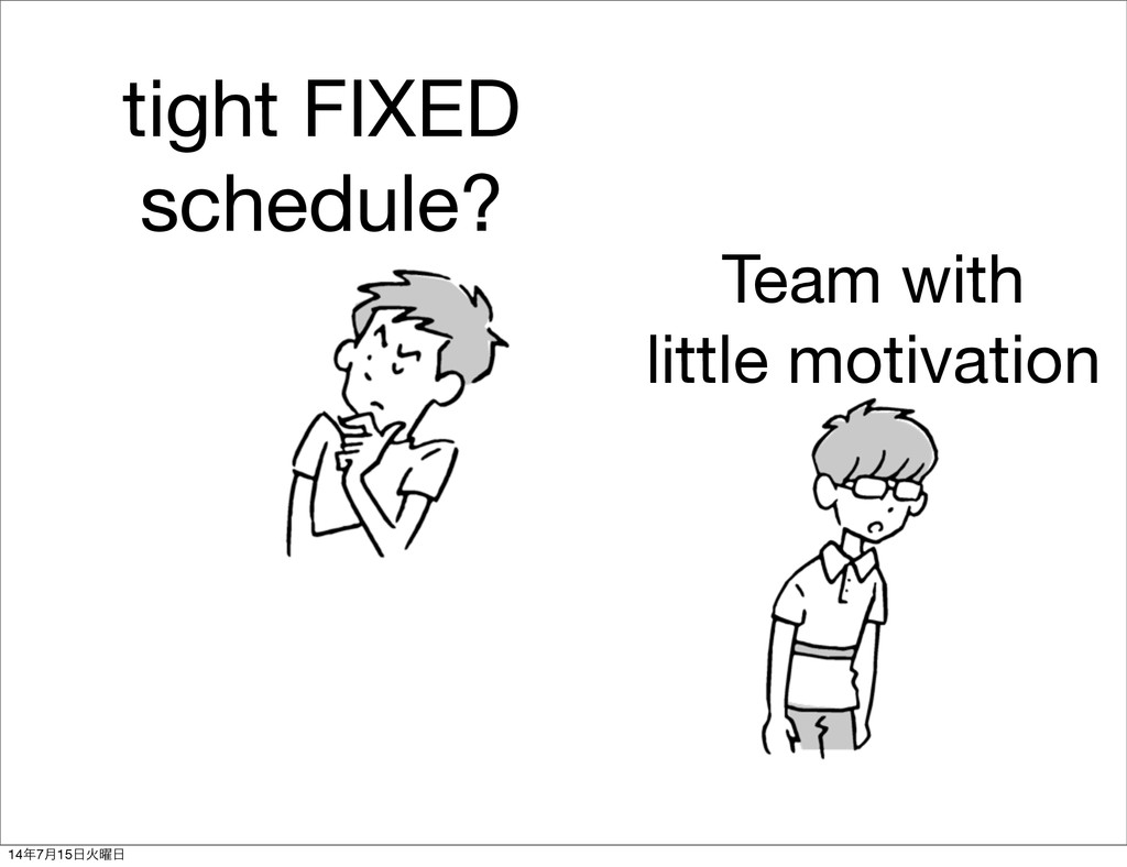 tight FIXED schedule? Team with little motivati...