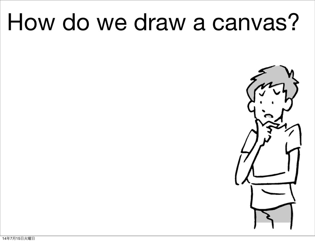 How do we draw a canvas? 14೥7݄15೔Ր༵೔