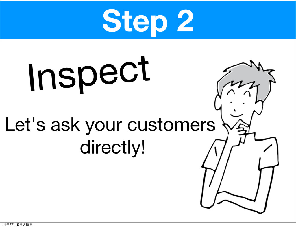 Inspect Step 2 Let's ask your customers directl...