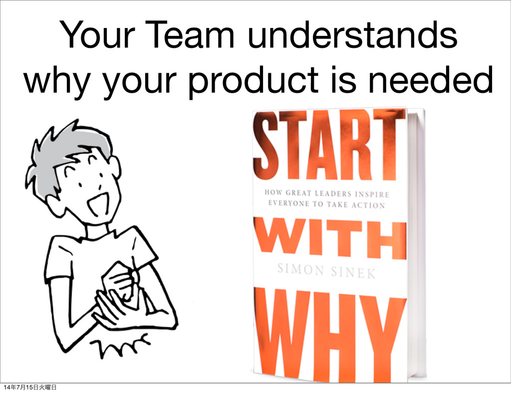 Your Team understands why your product is neede...