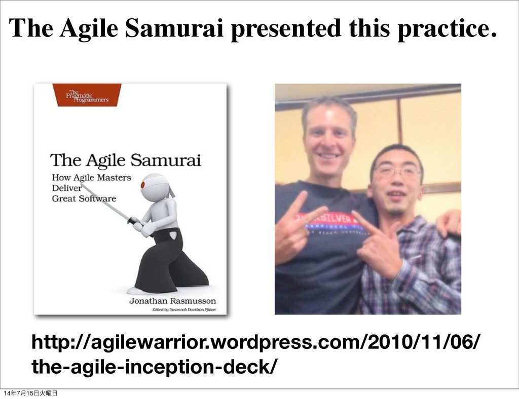 The Agile Samurai presented this practice. http...