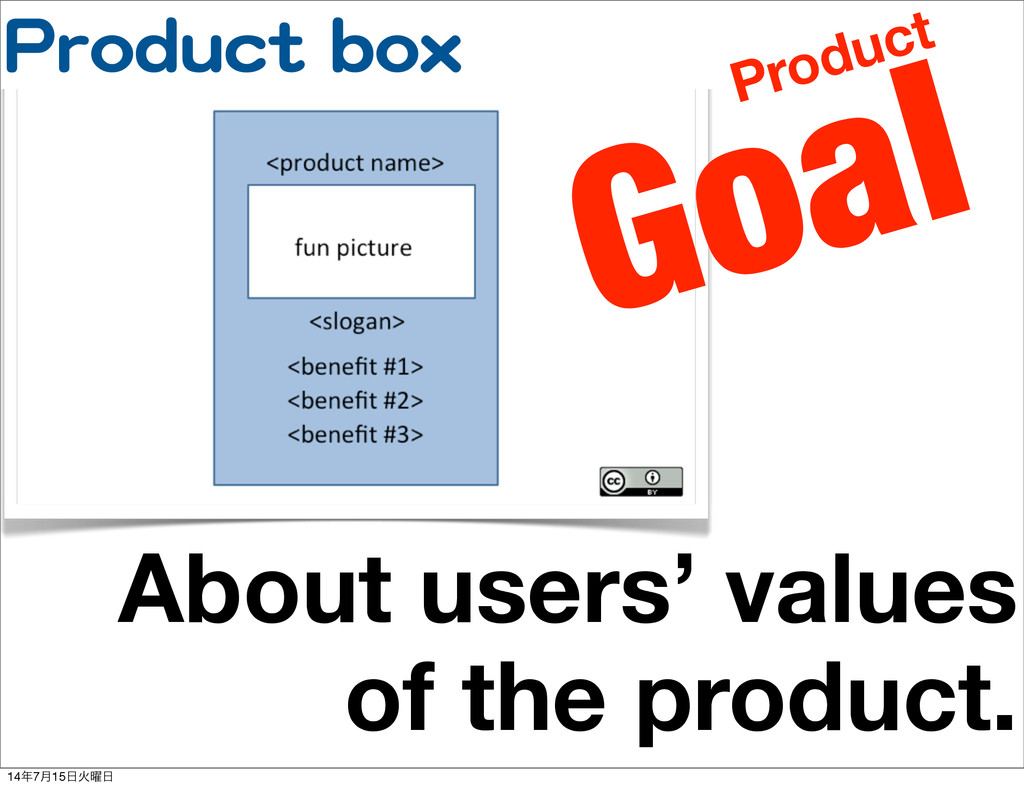 PPrroodduucctt  bbooxx About users' values of t...