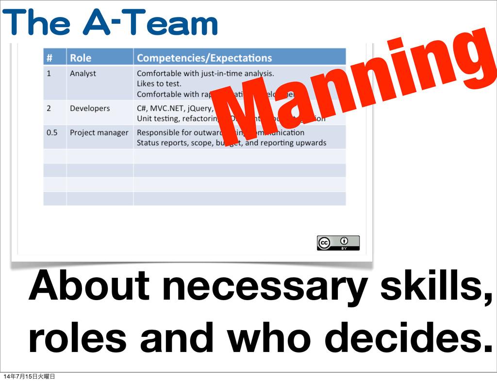TThhee  AA--TTeeaamm About necessary skills, ro...