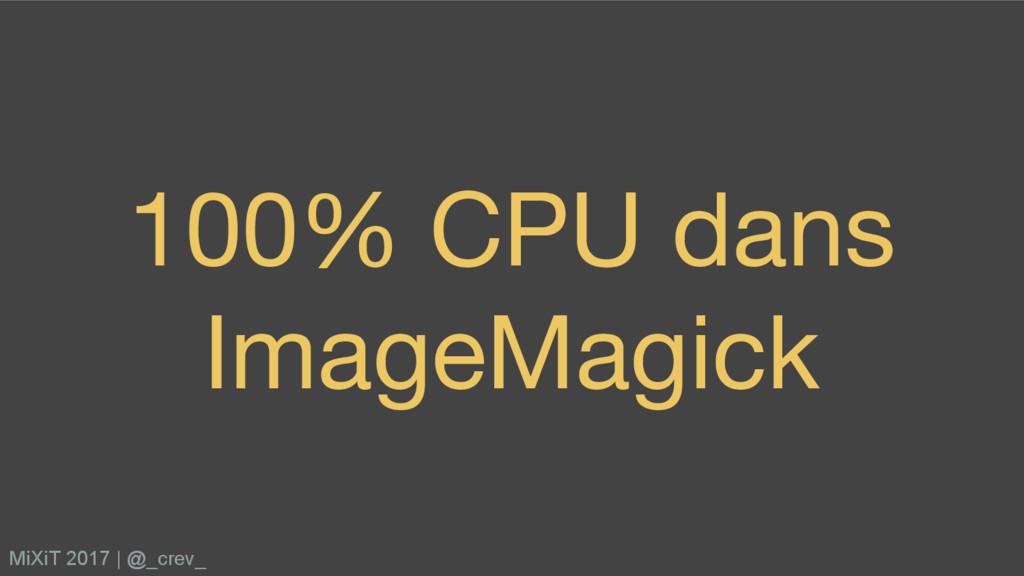 100% CPU dans ImageMagick MiXiT 2017   @_crev_