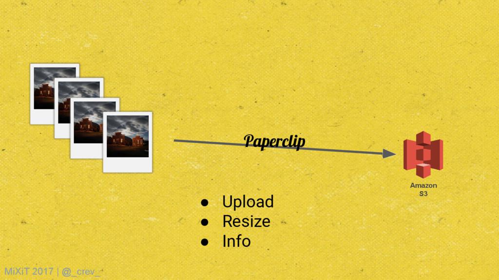 Amazon S3 Paperclip ● Upload ● Resize ● Info Mi...