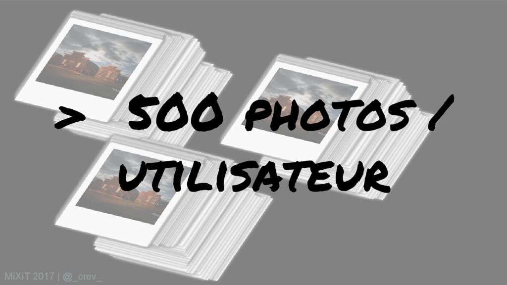 > 500 photos / utilisateur MiXiT 2017   @_crev_