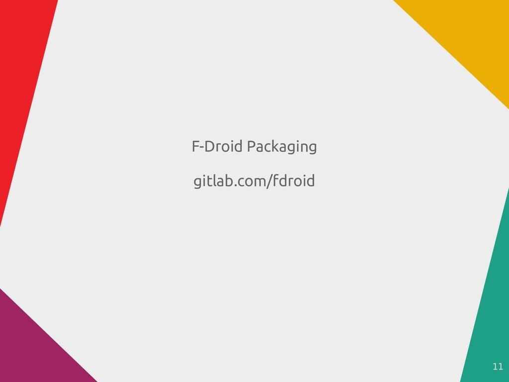 11 F-Droid Packaging gitlab.com/fdroid