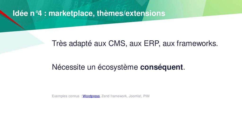 Très adapté aux CMS, aux ERP, aux frameworks. N...