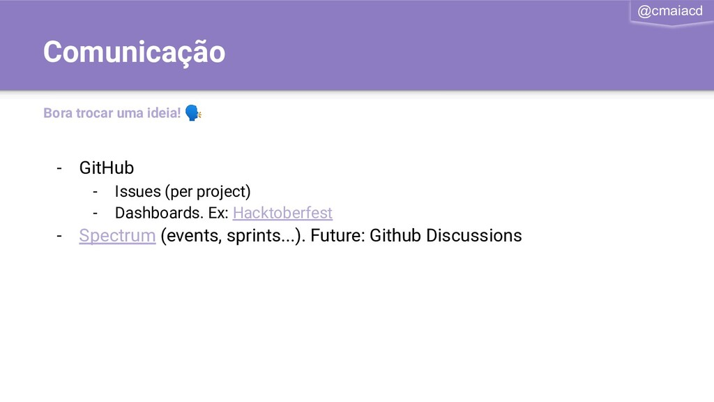 @cmaiacd - GitHub - Issues (per project) - Dash...