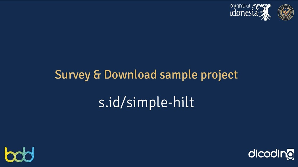 Survey & Download sample project s.id/simple-hi...