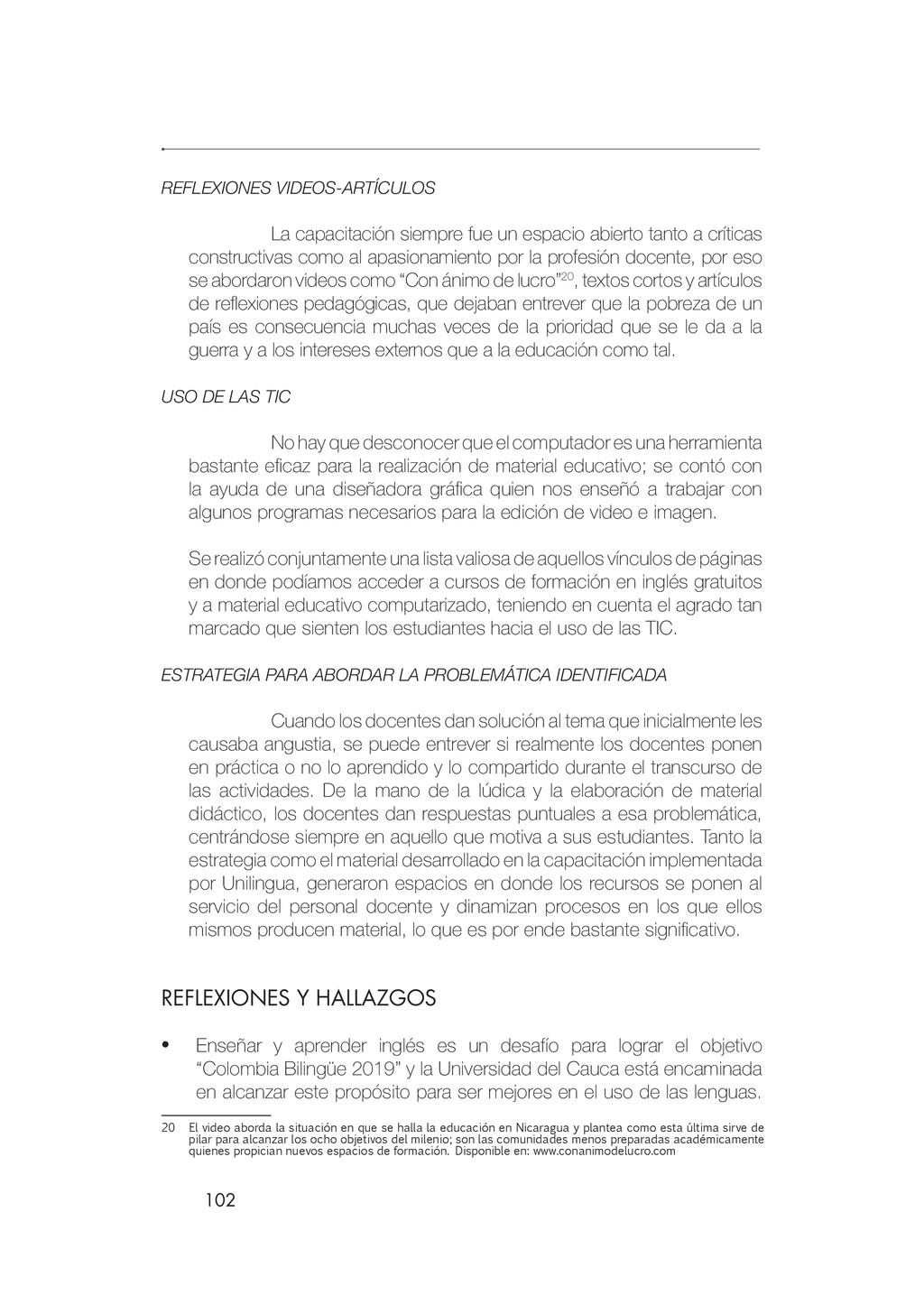 102 REFLEXIONES VIDEOS-ARTÍCULOS La capacitació...