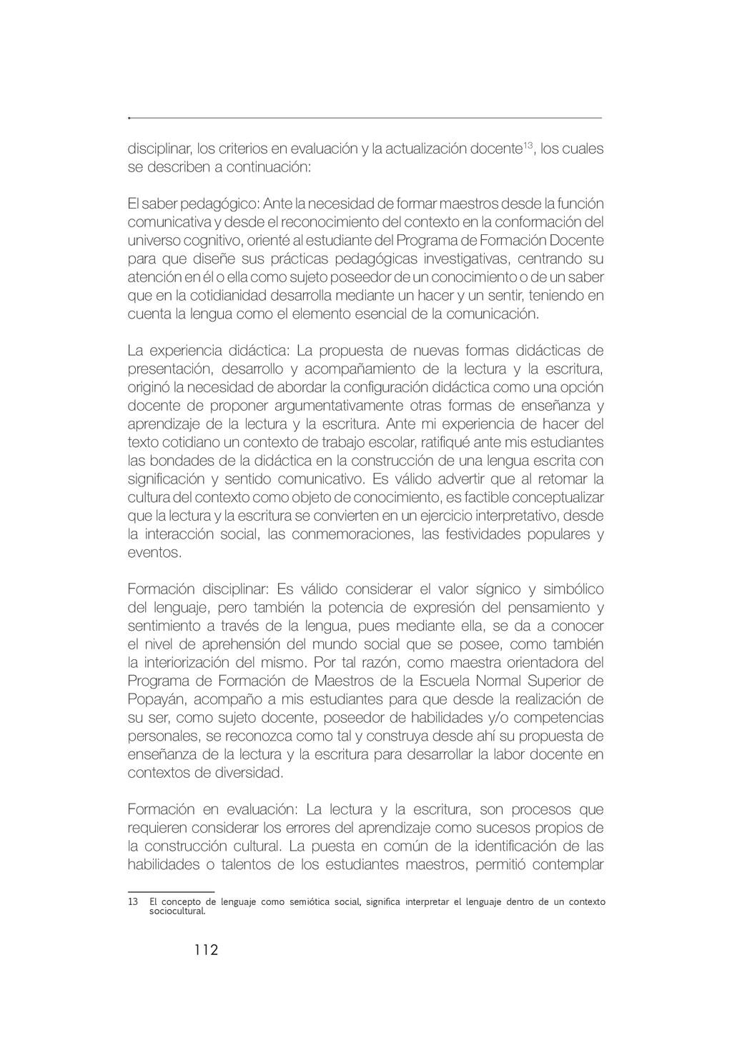 112 disciplinar, los criterios en evaluación y ...